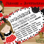 Invitaciòn Cumple Minnie rojo