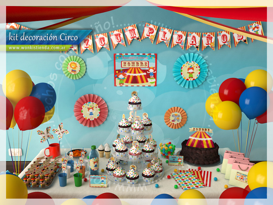 Fiesta de circo collage de ideas - Ideas decoracion fiestas ...