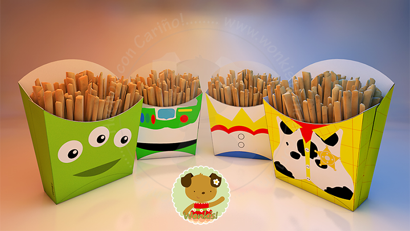toy story cajas para snaks