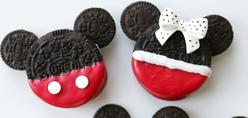 mickey y minnie con oreo
