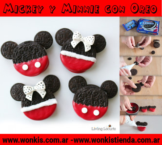 mickey y minnie con oreo_